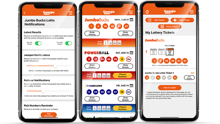 Georgia Lottery App Screenshots