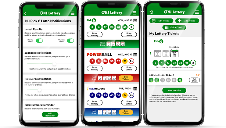 New Jersey Lottery App Screenshots