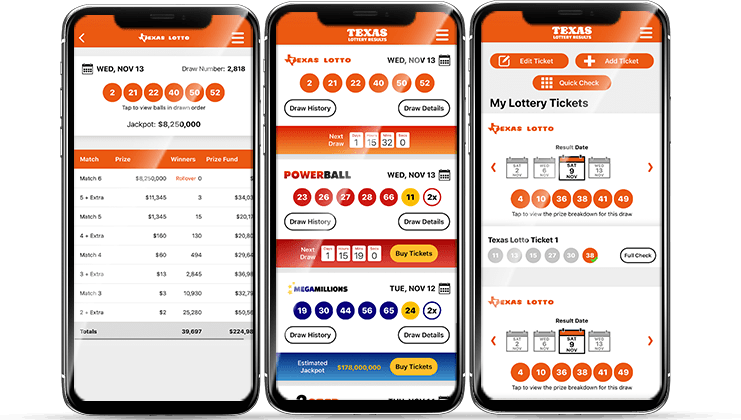 Texas Lottery App Screenshots